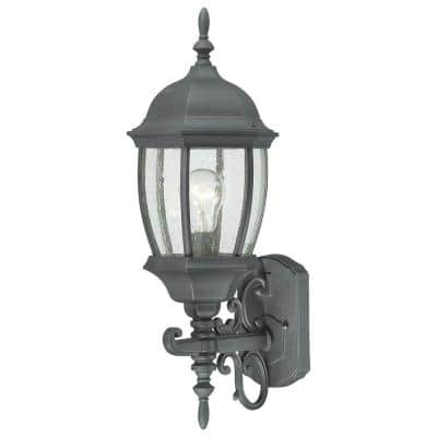 Covington 1-Light Black Outdoor Wall-Mount Lantern Sconce