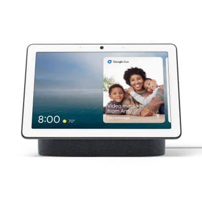 """Nest Hub Max - Smart Home Speaker and 10"""" Display with Google Assistant - Charcoal"""
