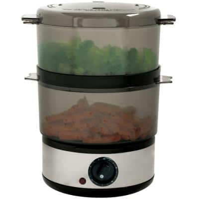2 Qt. Stainless Steel Food Steamer and Rice Cooker
