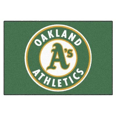 MLB Oakland Athletics 1 ft. 7 in. x 2 ft. 6in. Starter Mat Area Rug