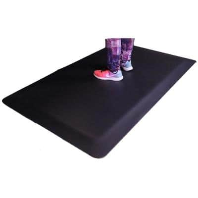 "Industrial Smooth Anti-Fatigue Mat, 2' Width x 4' Length x 7/8"" Commercial Floor Mat"