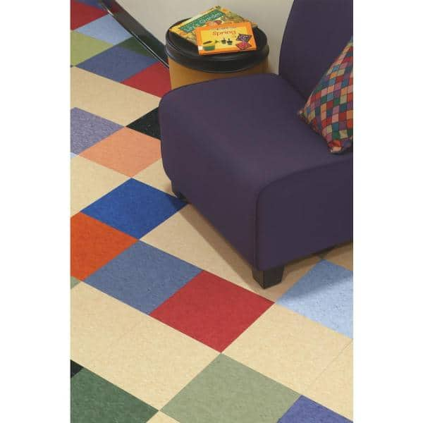 51860031 Soft Cool Gray Standard Excelon Commercial Vinyl Tile x 12 in 45 sq. ft. // case Toucan City LED Flashlight and Armstrong Imperial Texture VCT 12 in