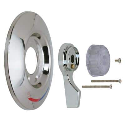 1-Handle Tub and Shower Faucet Trim Kit for Mixet Pressure Balanced Valves in Chrome/Clear (Valve Not Included)