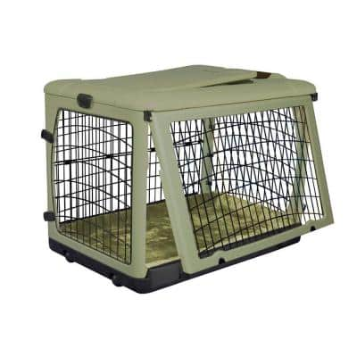 27 in. x 18.25 in. x 21.75 in. The Other Door Steel Crate with Plush Pad