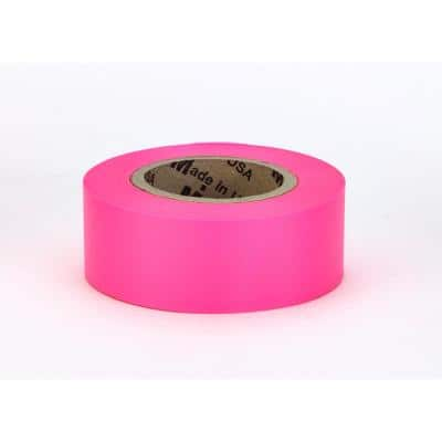 1-3/16 in. x150 ft. Glo-Pink Surveyor Grade ULTRA Flagging Tape (Pack of 24)