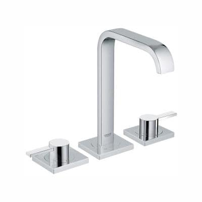 Allure 8 in. Widespread 2-Handle 1.2 GPM Bathroom Faucet in StarLight Chrome