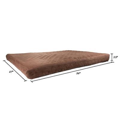 Large Chocolate Waterproof Pet Bed