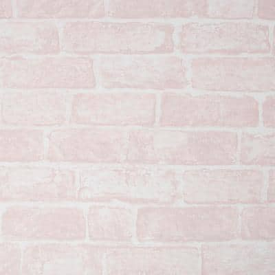 Brick Pink Paper Wet Removable Roll (Covers 56 sq. ft.)