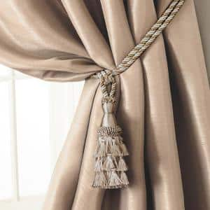 |38 Cord|Styl Beautiful Offwhite Curtain /& Drapery Double Tassel Tieback|5 12 tassel|27  Spread embrace Set of 4