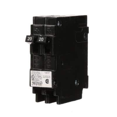 (2) 20 Amp Tandem Single Pole Type QT NCL-Circuit Breaker