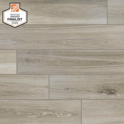 QuicTile 6 in. x 36 in. River Wood Glazed Porcelain Locking Floor Tile (10.15 sq. ft. / case)