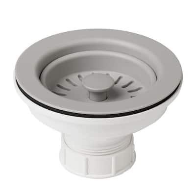 4-1/2 in. Kitchen Sink Strainer in Grey