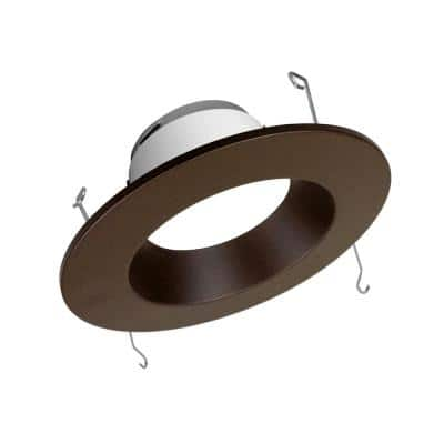 5/6 in. High-Output Series 5000K Oil Rubbed Bronze Integrated LED Recessed Retrofit Downlight Trim