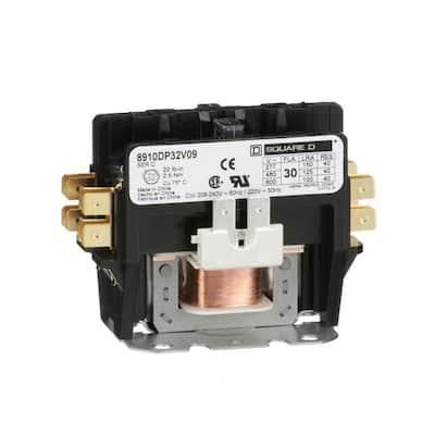 30 Amp 208/240-Volt AC 60 Hz 2-Pole Definite Purpose Contactor (4-Pack)