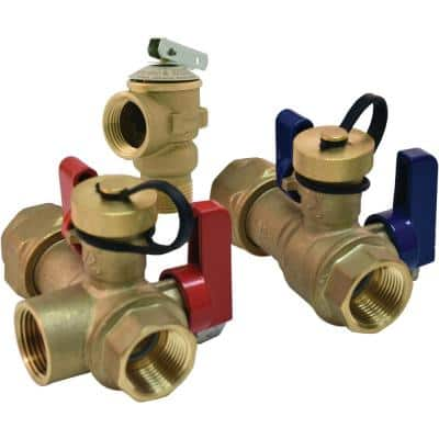 3/4 in. FNPT Union x 3/4 in. NPT Tankless Water Heater Service Valve