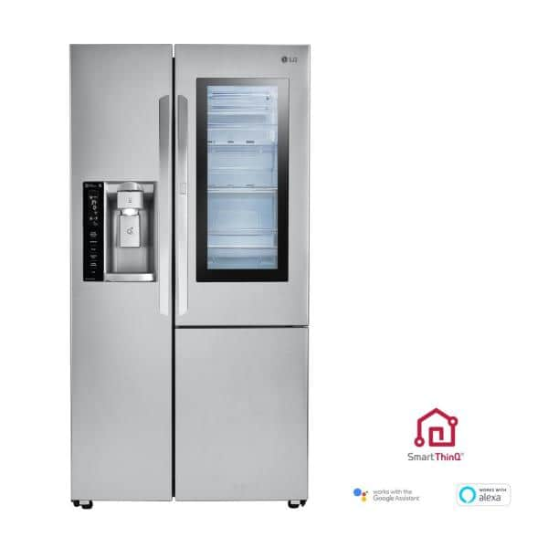 Lg Electronics 26 0 Cu Ft Side By Side Smart Refrigerator With Instaview Door In Door And Wi Fi Enabled In Stainless Steel Lsxs26396s The Home Depot