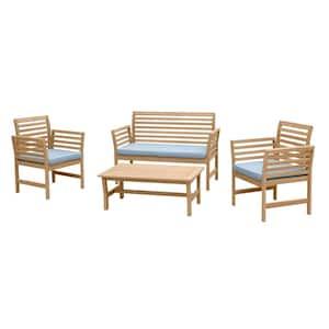 RST Brands Yuri 4-Piece Wood Patio Conversation Set Deals