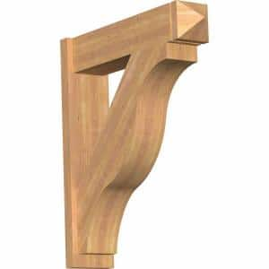 8 in. x 36 in. x 32 in. Western Red Cedar Fuston Arts and Crafts Smooth Outlooker