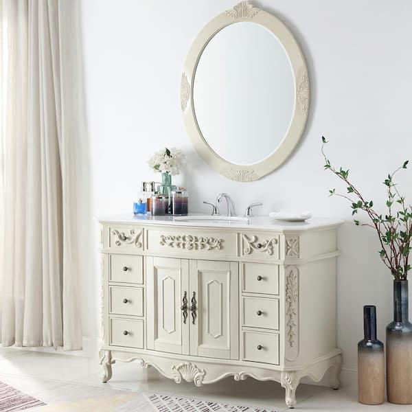 D Bath Vanity In Antique White, Antique White Bathroom Vanity Home Depot