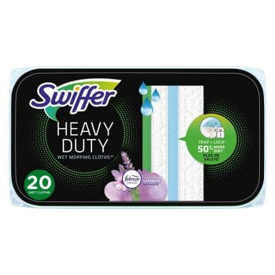 20-Ct Sweeper Wet Heavy-Duty Lavender & Vanilla Scent Wet Mopping Cloth