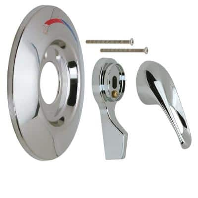 1-Handle Tub and Shower Faucet Trim Kit for Mixet Pressure Balanced Valves in Chrome (Valve Not Included)