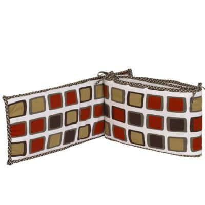Houndstooth Cotton 4 Sectional crib bumper Pads Cotton
