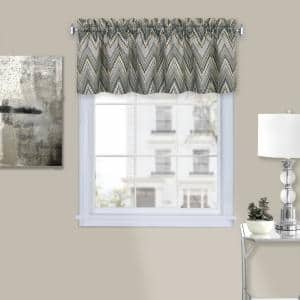 Avery 14 in. L Polyester Window Curtain Valance in Charcoal