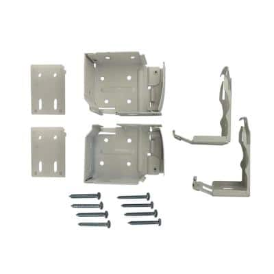 2 in. and 2.5 in. Cordless Faux Wood Side Mounting Bracket Set in White