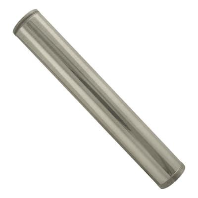 1-1/4 in. x 12 in. Brass Threaded Tailpiece in Satin Nickel
