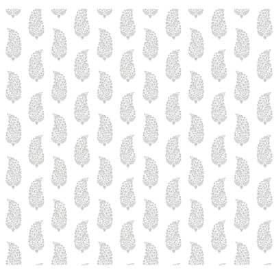 Boteh Paisley Gray Paper Strippable Roll (Covers 60.75 sq. ft.)