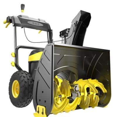 24 in. 80-Volt 2-Stage Cordless Snow Blower with 6.0 Ah Battery and Charger Included