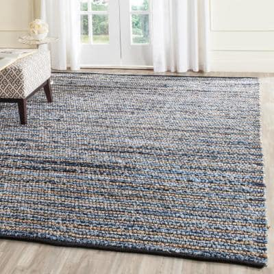 Cape Cod Blue/Natural 9 ft. x 12 ft. Striped Area Rug