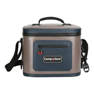 7.6 Qt. 12-Can Soft Cooler in Beige and Blue