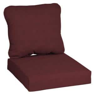24 in. x 22 in. CushionGuard Aubergine Deep Seating Outdoor Lounge Chair Cushion