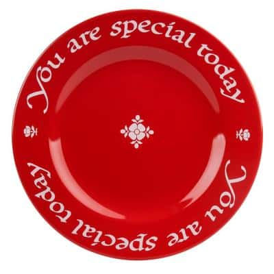 Waechtersbach You Are Special Today Red Ceramic Plate Set Gift Boxed with Pen