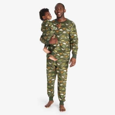 Company Organic Cotton Matching Family Pajamas - Men's Small Dino Pajama Set