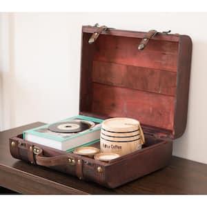 Decorative Wooden Leather Suitcase