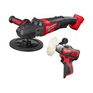 M18 FUEL 18-Volt Lithium-Ion Brushless Cordless 7 in. Variable Speed Polisher with Variable Speed Polisher (2-Tool)