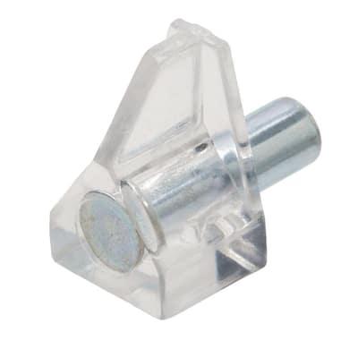 5 mm Clear Nylon Shelf Support (8-Piece)
