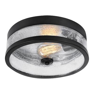 Carolina 1-Light Dark Bronze Flush Mount Light