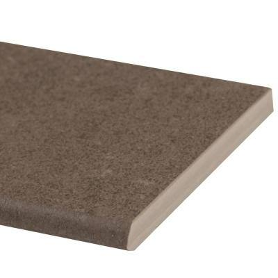 Beton Concrete Bullnose 4 in. x 12 in. Matte Porcelain Wall Tile (1 lin. ft.)