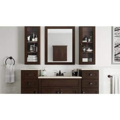Modular 12 in. W x 31 in. H x 6 in. D Bathroom Storage Wall Cabinet in Java