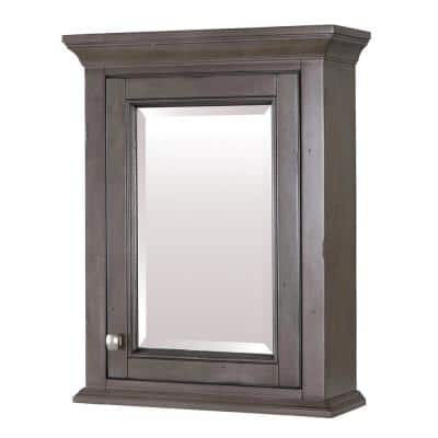 Brantley 22 in. x 28 in. x 8 in. Surface-Mount Medicine Cabinet in Distressed Grey