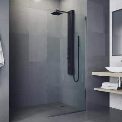 Kingsley 55 in. 2-Jet High Pressure Shower System with Fixed Rainhead and Handheld Dual Shower in Matte Black