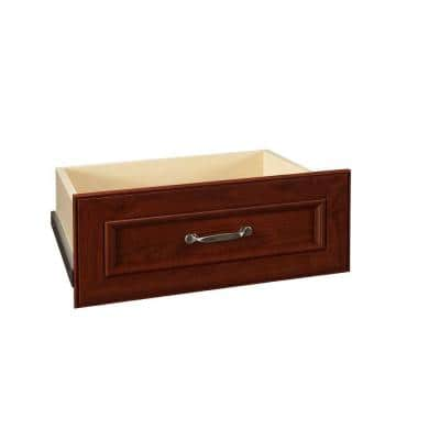 Impressions 22 in. W x 9 in. H Dark Cherry Deluxe Wood Drawer Kit for 25 in. W Tower