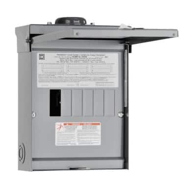 Homeline 100 Amp 6-Space 12-Circuit Outdoor Main Lug Load Center