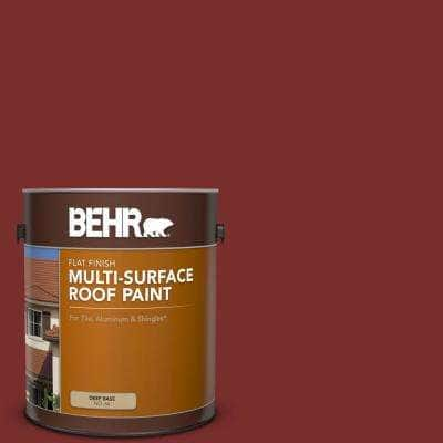 1 gal. #PPU2-02 Red Pepper Flat Multi-Surface Exterior Roof Paint