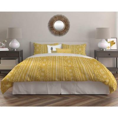 Leo 5-Piece Yellow Ultra-Soft Microfiber Full/Queen Comforter Set