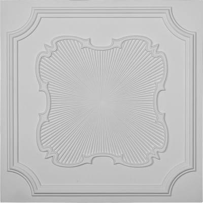 Eryn 2 ft. x 2 ft. Glue Up Polyurethane Ceiling Tile in White