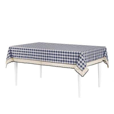 Buffalo Check 60 in. W x 120 in. L Navy Checkered Polyester/Cotton Rectangular Tablecloth